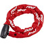 Red Cycling Products High Secure Chain Kettenschloss 6 mm x 1000mm rot